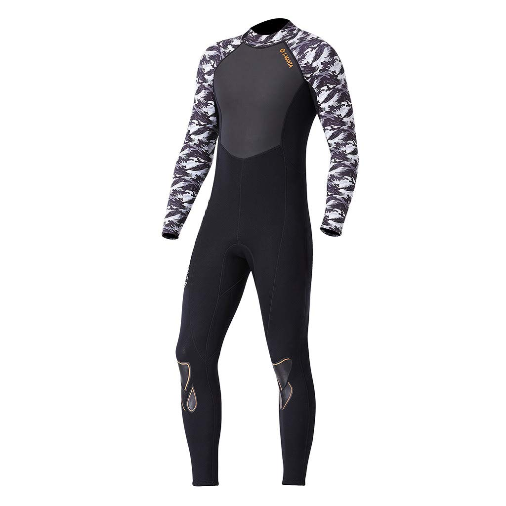 Yliquor Men's Keep Warm Sunscreen Swimming,Surfing and Snorkeling Diving Coverall SuitQuick Dry Breathable Elastic Training Comfy Classic Fashion by Yliquor (Image #8)