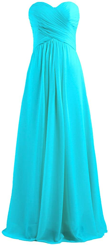 ANTS Women's Chiffon Bridesmaid Dresses Long Evening Gowns T760-MFN