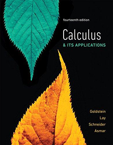Calculus & Its Applications (14th Edition) by Pearson