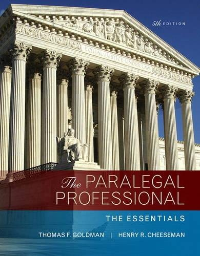 The Paralegal Professional: The Essentials (5th Edition)