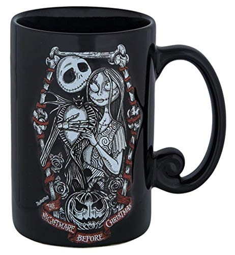 Disney Parks Nightmare Before Christmas Jack Sally Romantic Ceramic Mug 12 ounce Halloween