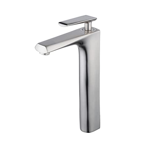 Beelee brush nickel commercial bathroom tall faucet for raised ...