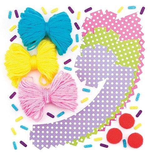 "Baker Ross Pompon-Bastelsets /""Cupcakes/"" f/ür Kinder Kreatives Bastelmaterial zum Dekorieren 3 St/ück"