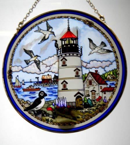 Suncatcher Lighthouse (Stained Glass Suncatcher Seabirds Lighthouse 6.5