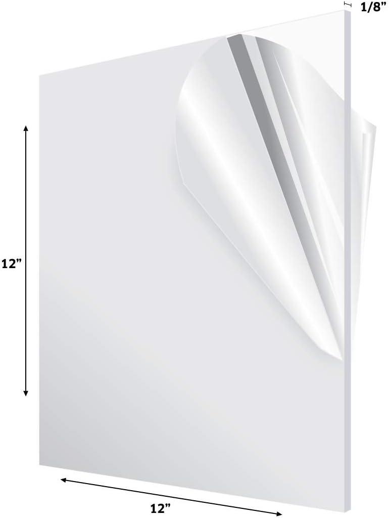 "12/""x18/""x1//8/"" Colored Acrylic Sheet Craft Rigid Plastic Plexiglass Supplies SAVE!"