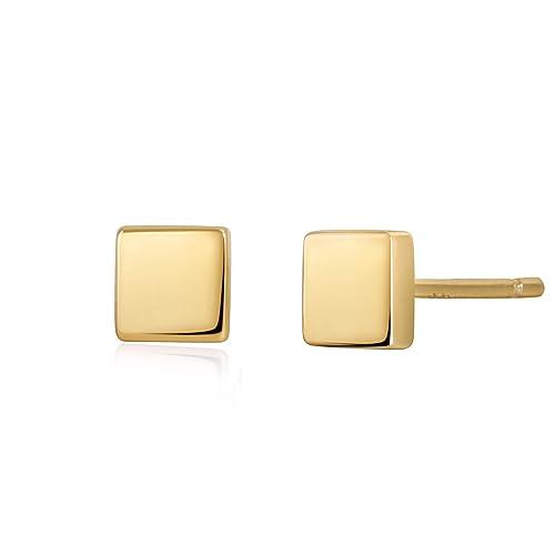 5d12a2988830e S.Leaf Sterling Silver Earrings Dainty Square Stud Earrings for Women