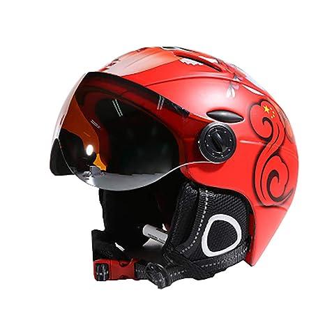 RAPIDLY Casco De Esquí Casco De Seguridad con Gafas Equipo ...