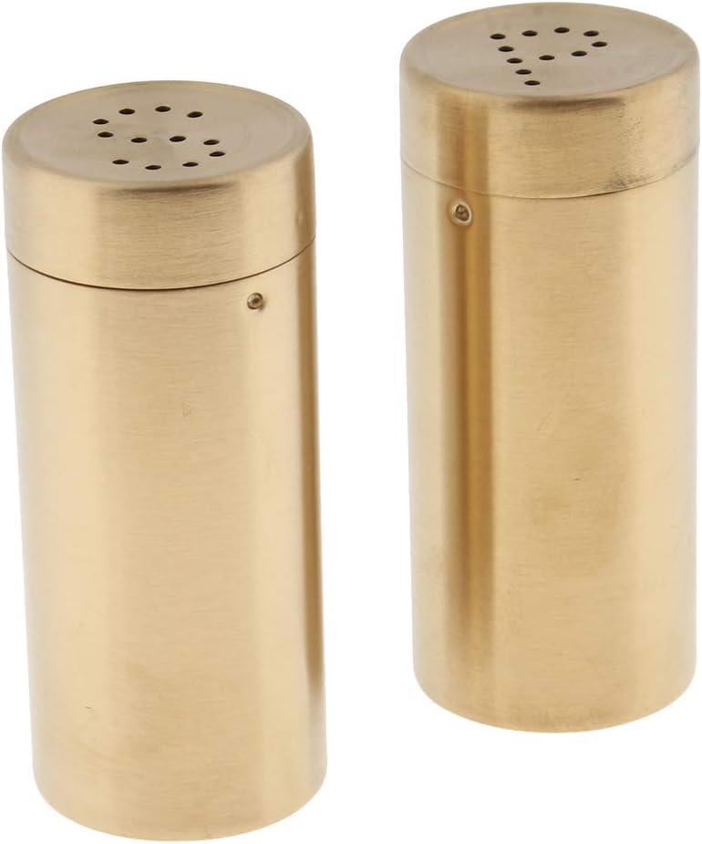 15 Oz Small Stainless Steel With Gold Shiny Finish Nu Steel Tg Jsp G Jumbo Salt Pepper Shaker Set Of 2
