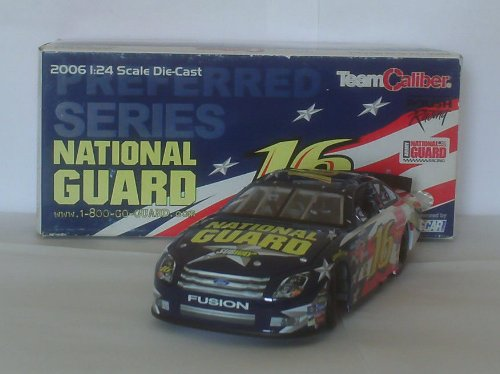 2006 Greg Biffle #16 National Guard Ford Fusion Team Caliber Preferred Series 1/24 Scale Hood Opens, Trunk Opens HOTO Indiividually Serialized Limited Edition Total Production 5004