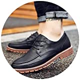 New-Loft-CA Men Casual Leather Oxford Shoes British Style Retro Carved Bullock Formal Shoes