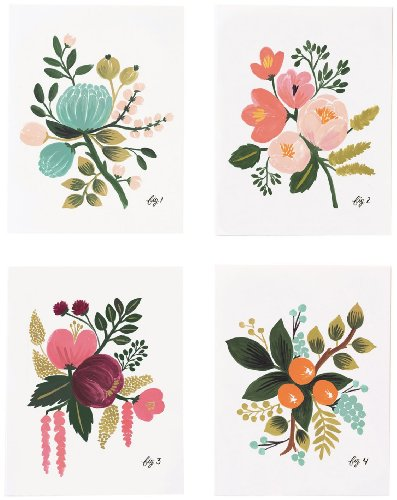 Botanical Card - Rifle Paper Co. Assorted Card Set - Botanical - 8 ct