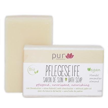 Manufaktur Pur - Jabón biológico natural de aceite de almendra con ...
