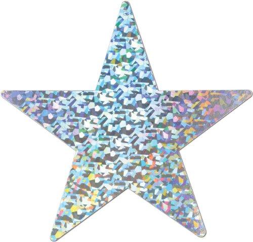 Bulk Buys Prismatic Foil Star Cutout - 9 in. - Silver - Case of 72