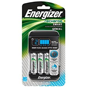 Sliding Battery Charger, AA & AAA, by Energizer, Batteries Included