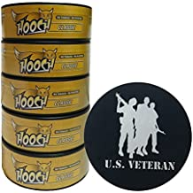 Hooch Herbal Snuff or Chew - 5 Can - Includes DC Skin Can Cover (Classic Fine) (Veteran Skin)