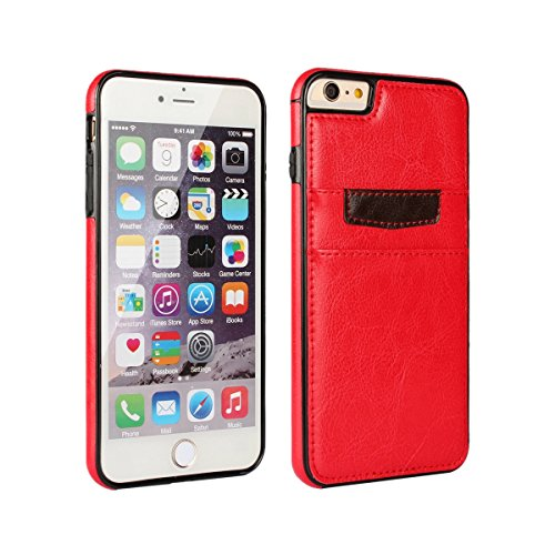 "iPhone 6 / iPhone 6s Wallet Case - Premium Leather Slim Wallet Mobile Accessory for iPhone 6/6s (4.7"") by DRUnKQUEEn - Ultra Slim Protective Bumper Credit Card Phone Cover"