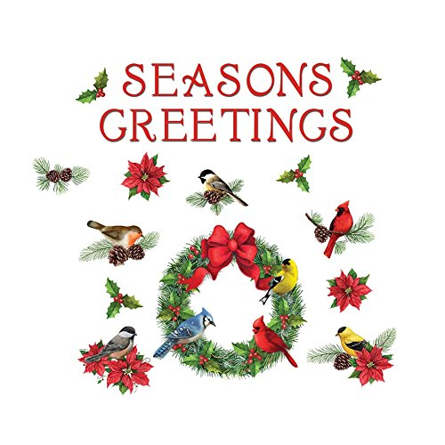 Collections Etc Garage Door Christmas Decoration Magnets - Wreath & Birds