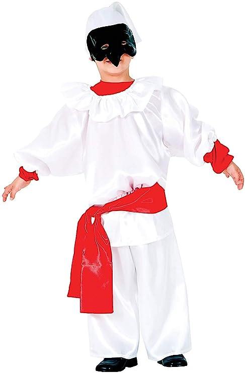 COSTUME di CARNEVALE da PULCINELLA BABY vestito per bambino ragazzo 1-6  Anni travestimento veneziano 415199adac3