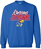 NCAA Kansas Jayhawks Adult Unisex NCAA Script Crewneck Sweatshirt,Medium,Royal