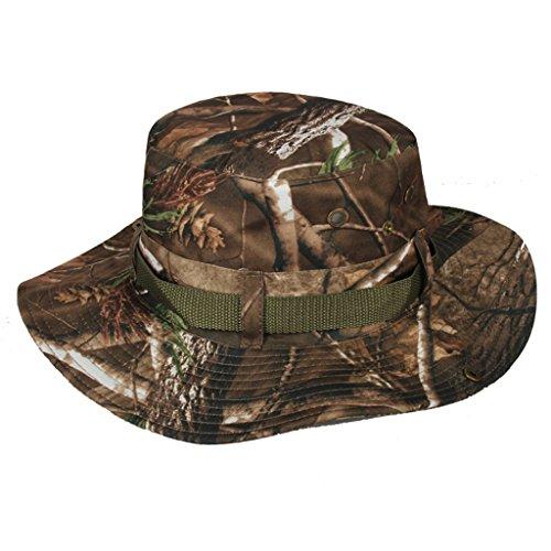 Gumstyle Summer Sun Hunting Fishing Cap Cowboy Wide Brim Boonie Bucket Hat Camo