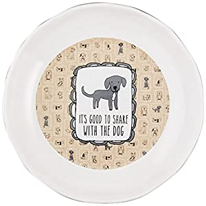 Pavilion Gift Company It's Cats & Dogs-Its Good to Share with The Dog Shallow 2″ Tall Ceramic Dog Food and Water Dish, Gray Click on image for further info.
