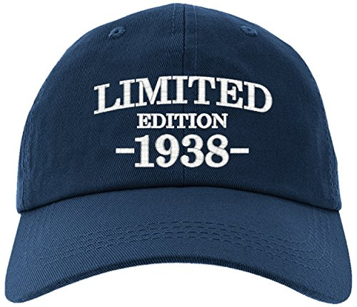 Birthday Limited Edition - Cap 1938-80th Birthday Gift, Limited Edition 1938 All Original Parts Baseball Hat 1938-EM-0001-Navy
