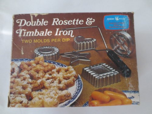 Patty Mold -- Nordic Ware -- Double Rosette & Timbale Iron -- 4 designs and instructions