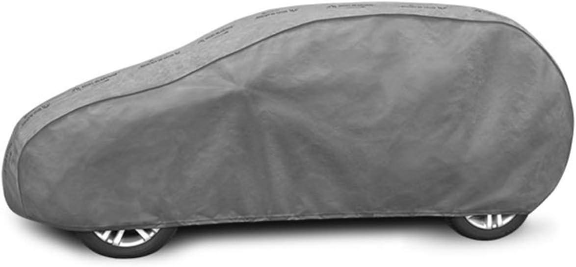 Vollgarage Auto Autoplane 380-405 cm Grau UV Schutz D/ünn Autoabdeckplane Ganzgarage Wasserdicht Hagelschutz Atmungsaktiv Aussen Sonnenschutz Winter saferide