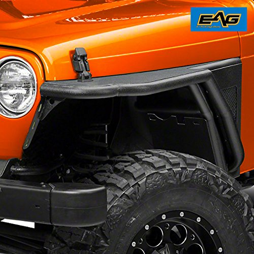 EAG Off Road Steel Front Fender Flares for 76-86 Jeep Wrangler CJ7 Cj Tube Fenders