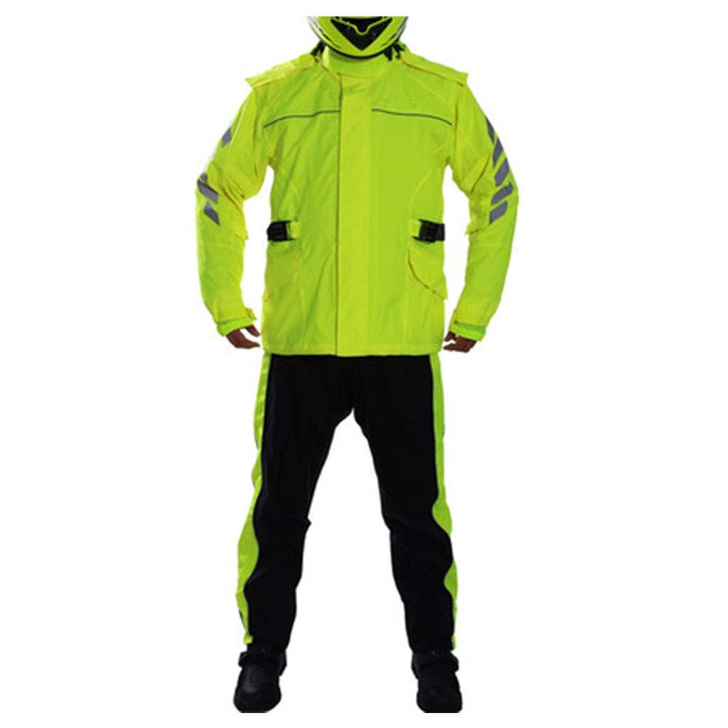 Fluorescent jaune Suit 3XL JTWJ Imperméable d'équitation Fendue, Combinaison Anti-Pluie Multifonctions, Ensemble imperméable, idéal pour Les journées pluvieuses, Les balades sur l'eau, Le Camping, etc.