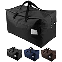 iwill CREATE PRO 100L Waterproof Seasonal Comforters Storage Bags for Garage/Attic/Shelves, Black