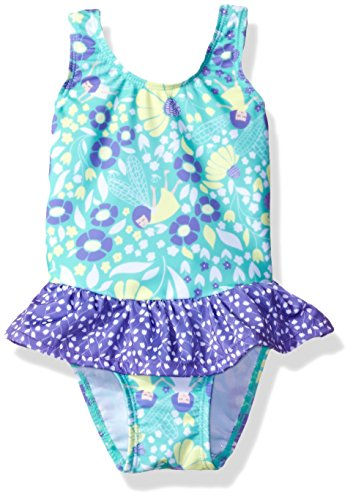(Flap Happy Girls' UPF 50+ Rio Infant Swimsuit with Snap Crotch, Garden Fairies,)