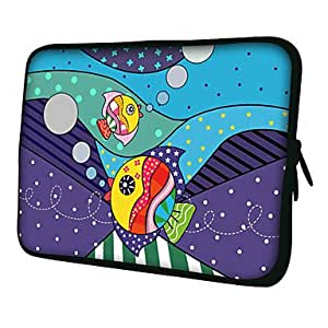 """Tropical Fish 7"""" 10"""" Protective Sleeve Case for P3100/P6800/P5100/N8000"""