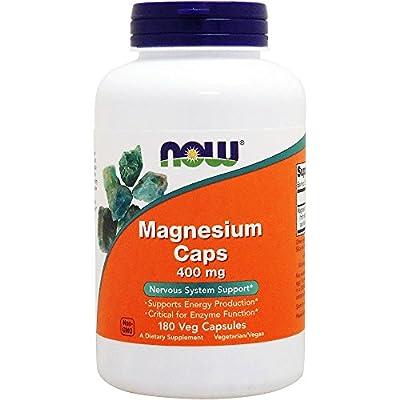 Now Magnesium Caps 400 mg 180 cap