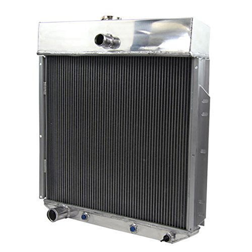 OzCoolingParts 3 Row Aluminum Radiator for Ford F-Series F350 F250 F100 Pickup Trucks V6/V8 53-56 (Pickup 56 Ford F100)