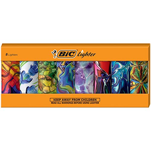 BIC Special Edition Blown Glass Series Lighters, Set of 8