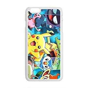 Lovely Pokemon happy Pikachu Cell Phone Case for iPhone plus 6