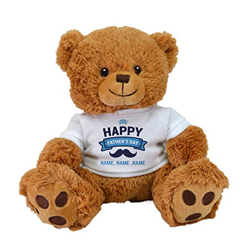 Customized Father's Day Limited Edition! Cute Teddy Bear Plush Toys with Personalized Names Best for Father's Day by CustomizedbyBilgin (Tan Bear)
