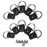 T O K G O @ 10pcs Safety Fitting Canoe Kayak D Ring Outfitting Fishing Rigging Bungee Kit Accessory Black