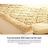 "World's Finest, 100% Australian Organic Wool Filled Mattress Topper/Overlay (Woolmark & Oeko-Tex® Quality Certified) Fully Reversible & Washable - Twin - 39"" x 75"""
