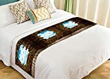 PicaqiuXzzz Custom Brick Bed Runner, Porous Wall See the Blue Sky Bed Runners And Scarves Bed Decoration 20x95 inch
