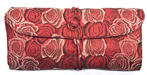 HiyaHiya Double Pointed Needle Case - Cotton and Brocade 8 1/4 by 4 3/8 Inches (Red) by HiyaHiya