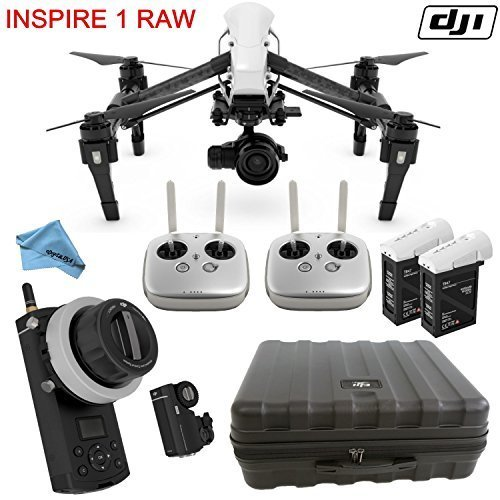 DJI Inspire 1 RAW Bundle with Zenmuse X5R & DJI Focus Wireless Follow Focus System, 2X TB47B Intelligent Flight Battery, Remote Harness, Dual Remotes & more…