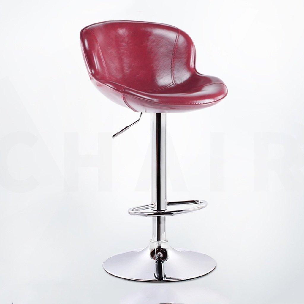 スツールバースツールシンプルなハイスツール、上げ下げ可能、チェアバーコーヒーショップレストラン、人工皮革を縫うシートメタルシートの高さ62-82cm (色 : D) B07CKGM2CN D D