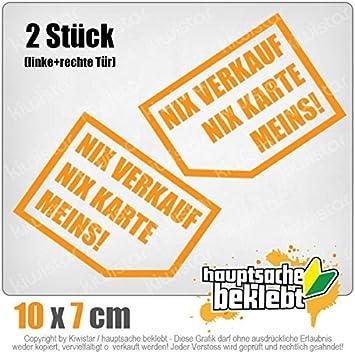 Nix verkaufen, nix Karte, Meins! 10x 7 cm IN 15 FARBEN - Neon + ...