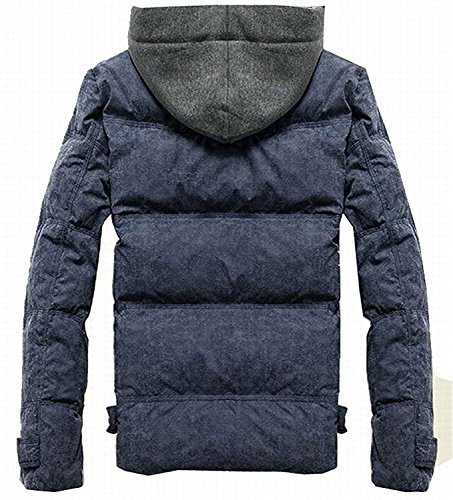 Mistere Men's Classic Down Puffer Jacket Coat With Removable Hood 1US-S