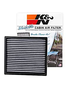 K n vf2000 washable reusable cabin air filter cleans and for Air canada pet in cabin