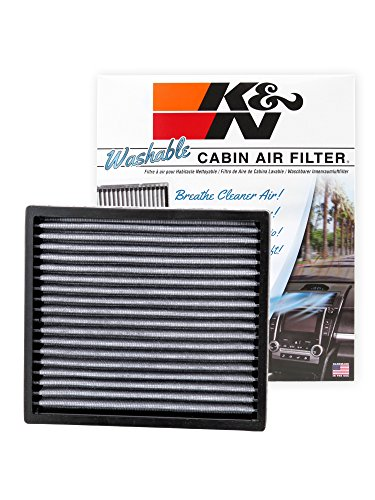 K&N VF2000 Washable Cabin Air Filter - Cleans and Freshens Incoming Air for Toyota, Subaru, Lexus