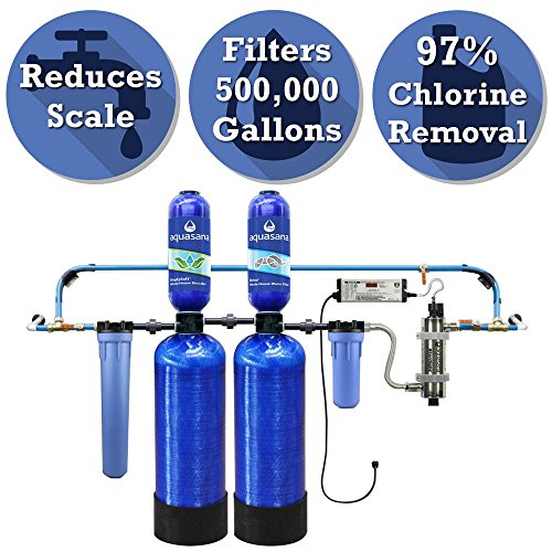Aquasana Rhino 6-Point 500,000 Gal. Well Water Filtration System with Simply Soft Salt-Free Water Softener and UV Filter