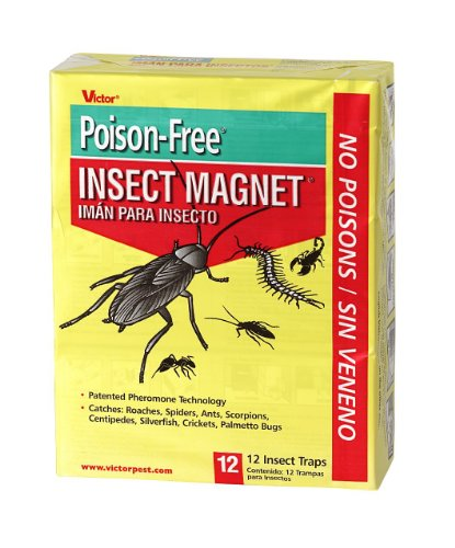 Vicor M256 Poison Free Insect Magnet Traps  12 Pack  2 Pack